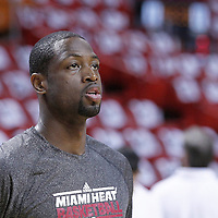 21 June 2012: Miami Heat shooting guard Dwyane Wade (3) is seen prior to Game 5 of the 2012 NBA Finals, at the AmericanAirlinesArena, Miami, Florida, USA.