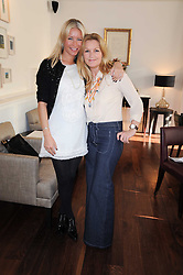 Left to right, DENISE VAN OUTEN and AMANDA KYME at a breakfast hosted by Bobbi Brown - the cosmetics company held at Morton's, 28 Berkeley Square, London on 8th December 2009.