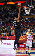 NANJING,CHINA:SEPTEMBER 5th 2019.FIBA World Cup Basketball 2019 Group phase match.Group F. New Zealand vs Greece. Point Guard Tai WEBSTER goes for the basket.<br /> Photo by Jayne Russell / www.PhotoSport.nz