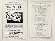 All Ireland Senior Hurling Championship Final,.Brochures,.03.09.1950, 09.03.1950, 3rd September 1950, .Tipperary 1-9, Kilkenny 1-8, .Minor Tipperary v Kilkenny,.Senior Tipperary v Kilkenny, .Croke Park, ..Advertisements, Certistyle Irish Gown, ..Songs, Ireland's Hurling Men, ..Poems, I Love the Hills of Ireland,