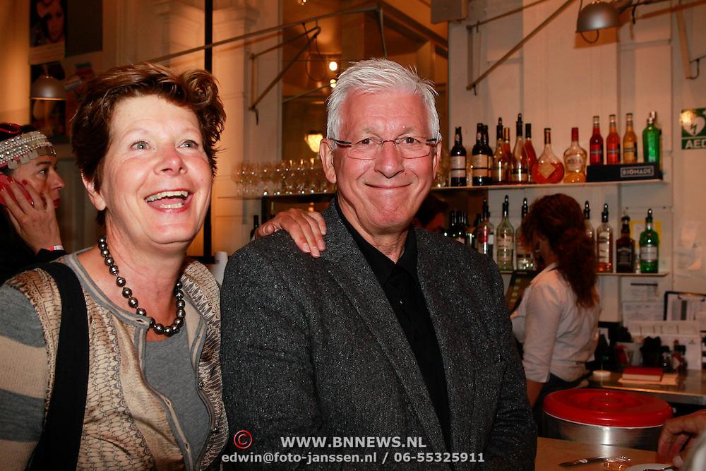 NLD/Amsterdam/20130701 - Keti Koti Ontbijt 2013 op het Leidse Plein, Maartje van Weegen en partner Joop Daalmeijer