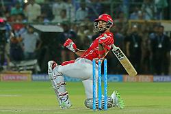 May 8, 2018 - Jaipur, Rajasthan, India - Kings XI Punjab team batsman K.L Rahul plays a shot during the IPL T20 match against Rajasthan Royals at Sawai Mansingh Stadium in Jaipur,Rajasthan,India on 8th May,2018.(Photo By Vishal Bhatnagar/NurPhoto) (Credit Image: © Vishal Bhatnagar/NurPhoto via ZUMA Press)