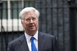 London, June 27th 2017. Defence Secretary Michael Fallon leaves the weekly UK cabinet meeting at 10 Downing Street in London.