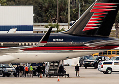 Florida: Donald Trump leaves Palm Beach International Airport on his personal plane, 26 Nov. 2016