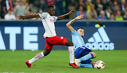 03.05.2018, Red Bull Arena, Salzburg, AUT, UEFA EL, FC Salzburg vs Olympique Marseille, Halbfinale, Rueckspiel, im Bild Amadou Haidara (FC Salzburg) und Lucas Ocampos (Olympique Marseille) // during the UEFA Europa League Semifinal, 2nd Leg Match between FC Salzburg and Olympique Marseille at the Red Bull Arena in Salzburg, Austria on 2018/05/03. EXPA Pictures © 2018, PhotoCredit: EXPA/ Roland Hackl