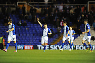 Birmingham City's Paul Caddis © celebrates after he scores from a penalty during the Skybet football league championship match, Birmingham city v Middlesbrough at St.Andrew's in Birmingham, England on Sat 7th Dec 2013. pic by Jeff Thomas/Andrew Orchard sports photography.