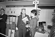 22/10/1963<br /> 10/22/1963<br /> 22 October 1963<br /> R.D.S. Scientific Exhibition opens, Ballsbridge, Dublin. John Power and Son Ltd. Whiskey flavour research stand.