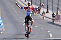Arrival, JUNGELS Bob (LUX) Etixx, winner,  during the 7th Tour of Oman 2016, Stage 1, Oman Exhibition Center - Al Bustan (145,5Km), on February 16, 2016 - Photo Tim de Waele / DPPI