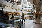 Shoppers in the Citic Square Shopping Mall on Nanjing Road, central Shanghai, China