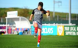 Carla Humphrey of Bristol City warms up prior to kick-off- Mandatory by-line: Nizaam Jones/JMP - 27/10/2019 - FOOTBALL - Stoke Gifford Stadium - Bristol, England - Bristol City Women v Tottenham Hotspur Women - Barclays FA Women's Super League