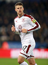 """Burnley's Johann Berg Gudmundsson during the Premier League match at the King Power Stadium, Leicester. PRESS ASSOCIATION Photo Picture date: Saturday December 2, 2017. See PA story SOCCER Leicester. Photo credit should read: Mike Egerton/PA Wire. RESTRICTIONS: EDITORIAL USE ONLY No use with unauthorised audio, video, data, fixture lists, club/league logos or """"live"""" services. Online in-match use limited to 75 images, no video emulation. No use in betting, games or single club/league/player publications."""
