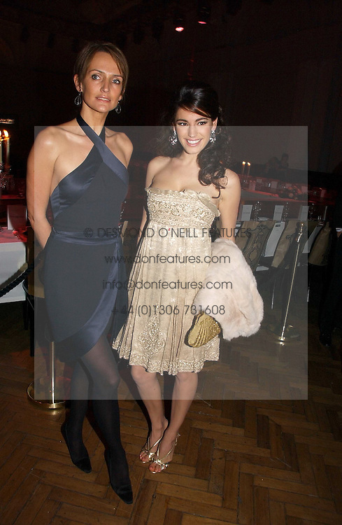 Left to right, models SAFFRON ALDRIDGE and  KELLY BROOK at the 6th annual Lancome Colour Design Awards in association with CLIC Sargent Cancer Care held at Lindley Hall, Victoria, London on 28th November 2006.<br /><br />NON EXCLUSIVE - WORLD RIGHTS