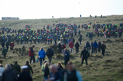 © licensed to London News Pictures. Okehampton, UK  14/05/2011 Thousands of young people take part in the 2011 Ten Tors event on Dartmoor. A 35, 45 or 55 mile hike across the Moors. Please see special instructions for usage rates. Photo credit should read London News Pictures