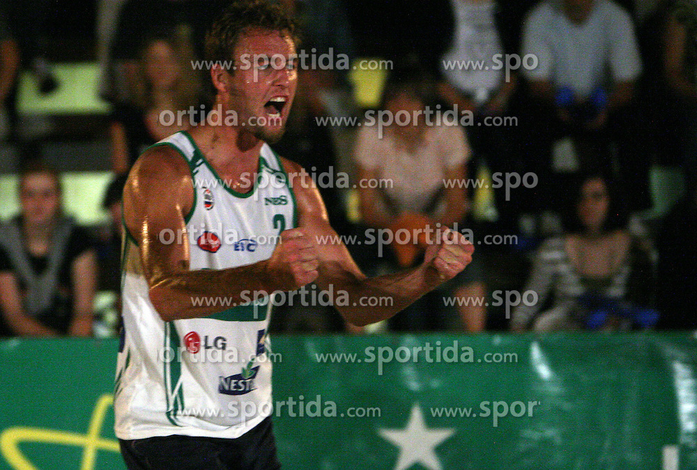 Danijel Pokersnik (Js pa ti Team) at qualifications for 14th National Championship of Slovenia in Beach Volleyball and also 4th tournament of series TUSMOBIL LG presented by Nestea, on July 25, 2008, in Kranj, Slovenija. (Photo by Vid Ponikvar / Sportal Images)/ Sportida)