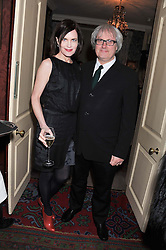 ELIZABETH McGOVERN and SIMON CURTIS at a party hosted by Justine Picardie, Editor-in-Chief of Harper's Bazaar UK and Glenda Bailey, Editor-in-Chief of Harper's Bazaar US to celebrate the end of London Fashion Week and the biggest-ever March issues of Harper's Bazaar, held at Mark's Club, Charles Street, London on 19th February 2013.