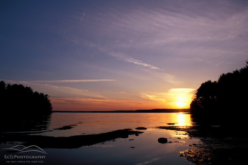 Sunset at Great Bay National Wildlife Refuge. March.  Newington, NH