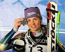 11-02-2011 SKIEN: FIS ALPINE WORLD CHAMPIONSSHIP: GARMISCH PARTENKIRCHEN<br /> silver medal Tina Maze (SLO) during ladies Supercombi<br /> **NETHERLANDS ONLY**<br /> ©2011-WWW.FOTOHOOGENDOORN.NL/EXPA/ J. Groder