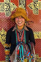 Vendors selling jewelry, Tibet (Xizang), China.