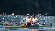 Lucerne, SWITZERLAND. GBR M2-. Bow. James FOAD and Matt LANGRIDGE. Heats Men's pair. FISA World Cup III, Lake Rotsee,  Friday  10/07/2015   [Mandatory Credit. Peter SPURRIER/Intersport Images. .   Empacher.