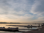 Varese. Lombardia. ITALY. General View. Varese Rowing Club. [Canottieri Varese] Province of Varese.  Sunset <br /> <br /> Monday  02/01/2017<br /> <br /> [Mandatory Credit; Peter Spurrier/Intersport-images]<br /> <br /> <br /> LEICA CAMERA AG - LEICA Q (Typ 116) - 1/640 - f4 , Atmospheric, mist, fog, Sunrise, Sunset, Blue Hour,