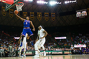 WACO, TX - JANUARY 7: Wayne Selden Jr. #1 of the Kansas Jayhawks drives to the basket against the Baylor Bears on January 7, 2015 at the Ferrell Center in Waco, Texas.  (Photo by Cooper Neill/Getty Images) *** Local Caption *** Wayne Selden Jr.