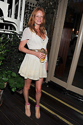 OLIVIA INGE at a dinner hosted by Edward Taylor and Alexandra Meyers in association with Johnnie Walker Blue Label held at Mark's Club, 46 Charles Street, London W1 on 26th April 2012.