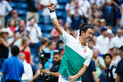 September 5, 2018 - Flushing Meadow, NY, U.S. - FLUSHING MEADOW, NY - SEPTEMBER 05: KEI NISHIKORI (JPN) day ten of the 2018 US Open on September 05, 2018, at Billie Jean King National Tennis Center in Flushing Meadow, NY. (Photo by Chaz Niell/Icon Sportswire) (Credit Image: © Chaz Niell/Icon SMI via ZUMA Press)