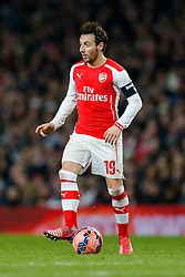 Santi Cazorla of Arsenal in action - Photo mandatory by-line: Rogan Thomson/JMP - 07966 386802 - 15/02/2015 - SPORT - FOOTBALL - London, England - Emirates Stadium - Arsenal v Middlesbrough - FA Cup Fifth Round Proper.
