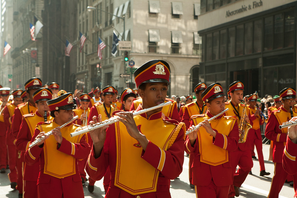The Cardinal Hayes High School marching band.