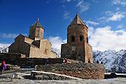 Georgia, 14th century Gergeti Trinity Church (Tsminda Sameba) Holy Trinity Church near the village of Gergeti