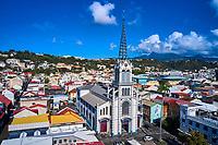 France, Martinique, Fort-de-France, centre ville, la cathedrale Saint-Louis // France, West Indies, Martinique, Fort-de-France, cityscape and Saint-Louis cathedral