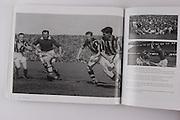 Kilkenny's Jimmy Heffernan, Dan Kennedy and Peter Prendergast with Cork's Jack Lynch in the 1947 All-Ireland Final.