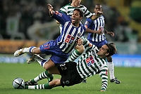"""LISBOA 21 MARCH 2005: # and # in the 26 leg of the Super Liga, season 2004/2005, match  Sporting CP (2) vs FC Porto (0), held in """"Alvalade XXI"""" stadium,  21/03/2005  20:37:48<br /> (PHOTO BY: NUNO ALEGRIA/AFCD)<br /> <br /> PORTUGAL OUT, PARTNER COUNTRY ONLY, ARCHIVE OUT, EDITORIAL USE ONLY, CREDIT LINE IS MANDATORY AFCD-PHOTO AGENCY 2004 © ALL RIGHTS RESERVED"""