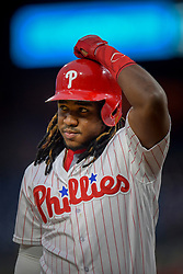 May 22, 2018 - Philadelphia, PA, U.S. - PHILADELPHIA, PA - MAY 22: Philadelphia Phillies third baseman Maikel Franco (7) makes his way to the plate during the MLB game between the Atlanta Braves and the Philadelphia Phillies on May 22, 2018 at Citizens Bank Park in Philadelphia PA. (Photo by Gavin Baker/Icon Sportswire) (Credit Image: © Gavin Baker/Icon SMI via ZUMA Press)