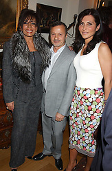 Left to right, SHIRLEY BASSEY, JACQUES AZAGURY and ELLA KRASNER at a Conservative Party Reception for the Art held at 24 Thurloe Square, Lndon SW7 on 5th April 2005.<br /><br />NON EXCLUSIVE - WORLD RIGHTS