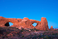The Windows in Arches National Park in Moab, Utah.