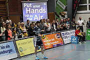 Volleyball: 1. Bundesliga, SVG Lueneburg - VSG Coburg / Grub, Lueneburg, 10.02.2016<br /> Steven Marshall (Lüneburg)<br /> © Torsten Helmke
