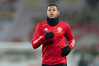Football - 2020 / 2021 Premier League - Liverpool vs Sheffield United - Anfield<br /> <br /> Sheffield United's Rhian Brewster during the pre-match warm-up <br /> <br /> COLORSPORT/TERRY DONNELLY