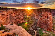 Sunrise over Canyon del Muerto, Canyon de Chelly National Monument, Arizona USA