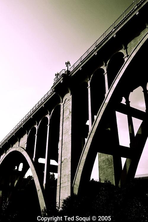 """Colorado St. """"Suicide Bridge"""" bridge in Pasadena, CA. Built in 1913."""