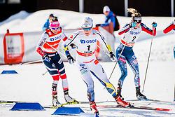 March 16, 2018 - Falun, SVERIGE - 180316 Hanna Falk, Sverige tÅvlar i semifinalen i sprint under Svenska Skidspelen den 16 mars 2018 i Falun  (Credit Image: © Simon HastegRd/Bildbyran via ZUMA Press)