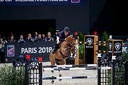BOST Roger Yves (FRA), Sangria du Coty<br /> Paris - FEI World Cup Finals 2018<br /> Longines FEI World Cup Jumping Final I<br /> www.sportfotos-lafrentz.de/Stefan Lafrentz<br /> 12. April 2018