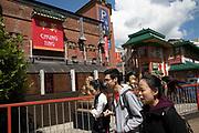Street scene in Chinatown area in Birmingham, United Kingdom.