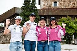 Tina Robnik, Ana Bucik, Meta Hrovat and Andreja Slokar at press conference of Slovenian Alpine Skiing Technical Team - Ladies, on June 7, 2021 in Ljubljana Castle, Ljubljana, Slovenia. Photo by Matic Klansek Velej / Sportida