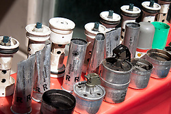 © under license to London News Pictures. 19/02/2011. Examples of the rubber bullets and tear gas canisters used against people during the recent protests in Manama, Bahrain today (19/02/2011).  Photo credit should read Michael Graae/London News Pictures