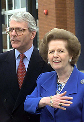 File photo dated 16/04/1997 of John Major and Margaret Thatcher, as Prime Minister John Major's desperate efforts to placate a furious Margaret Thatcher after she turned against him just weeks after he entered No 10 are laid bare in newly released government files.