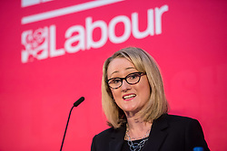 © Licensed to London News Pictures. 01/02/2020. Bristol, UK. REBECCA LONG-BAILEY, at the Labour Party Leadership Hustings, at Ashton Gate Stadium. Candidates: Emily Thornberry, Lisa Nandy, Kier Starmer, Rebecca Long-Bailey. Photo credit: Simon Chapman/LNP.