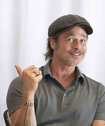 July 12, 2019, Hollywood, California, USA: BRAD PITT promotes the movie 'Once Upon A Time in Hollywood' at the Four Season in Beverly Hills. (Credit Image: © Armando Gallo/ZUMA Studio)