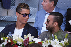 May 13, 2017 - Madrid, Spain - Real Madrid's Portuguese forward Cristiano Ronaldo  attends the semi final match beetwen Serbian Novak Djokovic and Spanish Rafa Nadal at the Mutua Madrid Open tennis tournament held at the Magic Box in Madrid, Spain, 13 May 2017. (Credit Image: © Oscar Gonzalez/NurPhoto via ZUMA Press)