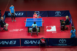 Juan XUE and Qian LI of China play final match during Day 4 of SPINT 2018 - World Para Table Tennis Championships, on October 20, 2018, in Arena Zlatorog, Celje, Slovenia. Photo by Vid Ponikvar / Sportida